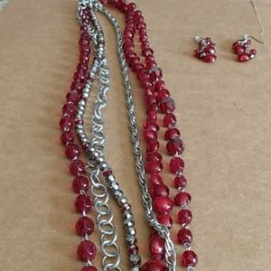 WHBM Necklace & Earrings Set
